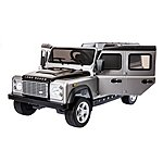 image of Licensed Land Rover Defender 12v Ride On Car With Remote Control - Metallic Silver