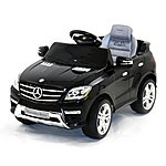 image of Licensed Mercedes Ml350 6v Electric Ride On Kids Car With Remote - Black