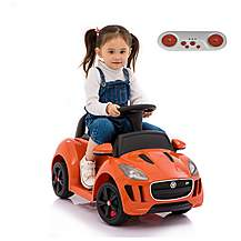 image of Licensed Jaguar F-type 6v Kids Ride On Car With Remote Control - Orange