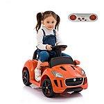 image of Licensed Jaguar F-type 6v Kids Ride On Car With Remote Control - Orange