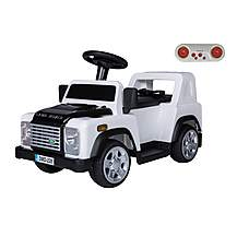 image of Licensed Land Rover Defender 6v Kids Ride On Car With Remote - White