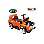 image of Licensed Land Rover Defender 6v Kids Ride On Car With Remote - Orange
