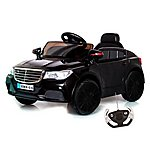 image of Mercedes Cla Saloon Style 12v Electric Ride On Car Black
