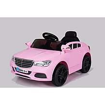 image of Mercedes Cla Saloon Style 12v Electric Ride On Car Pink