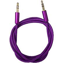 image of Halfords 3.5mm Aux Cable - Purple
