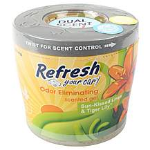 image of Refresh Gel Car Air Freshener Sunkissed Linen/Tiger Lily