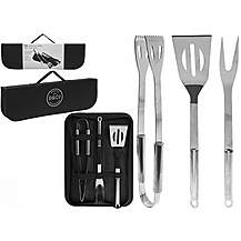 image of Summit Bandco 3 Pc Bbq Tool Set With Carry Case
