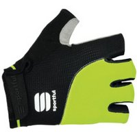 Sportful Giro Cycling Mitts - Black & Fluorescent, Large