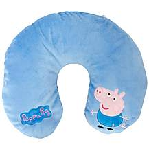 image of George Pig Reversible Travel Pillow Blue