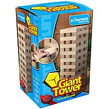 image of Giant Tower Wooden Blocks Garden Game