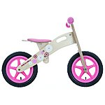 image of Apollo Wooden Balance Bike - Flower