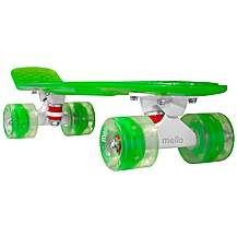 "image of Mello LED 22"" Cruiser Skateboard - Lime"