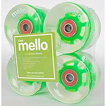 image of Mello LED 59mm Wheel Set - Lime