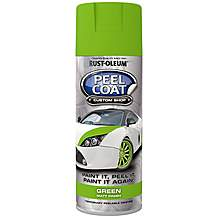 image of Rust-Oleum Peel Coat 400ml Spray - Lime Green