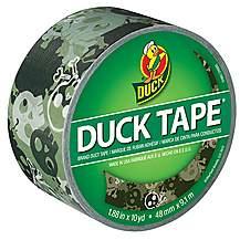 image of Camo Skulls Print Duck Tape  48mm x 9.1m