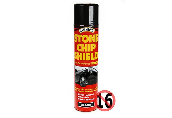 Hammerite Stonechip Shield Black 600ml