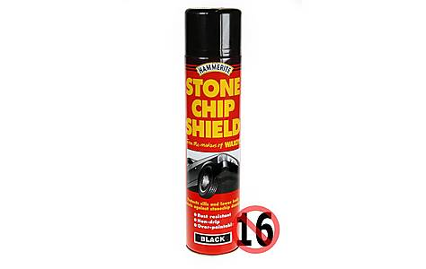 image of Hammerite Stonechip Shield Black 600ml