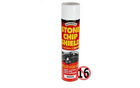 image of Hammerite Stonechip Shield White 600ml