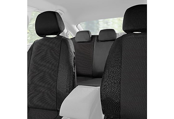 Halfords Car Seat Covers Set: Grey Spot Pattern