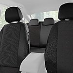 image of Halfords Car Seat Covers Set: Grey Spot Pattern