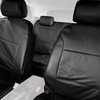 Halfords Advanced Leather Look Car Seat Covers Full Set - Black