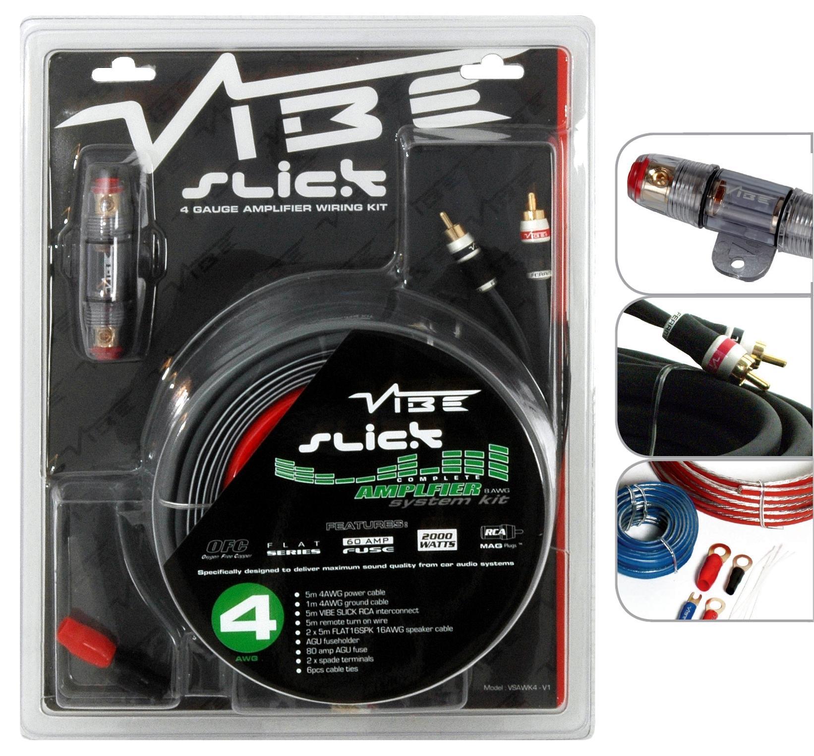 Vibe Slick 4 Gauge Amplifier Wiring Kit  sc 1 st  Halfords : halfords amp wiring kit - yogabreezes.com