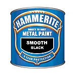image of Hammerite Direct to Rust Metal Paint Smooth Black 2.5L