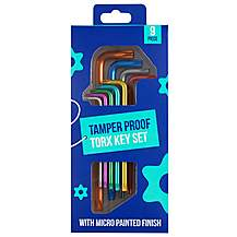 image of Halfords Colour 9 Piece Tamper Proof Star Key Set