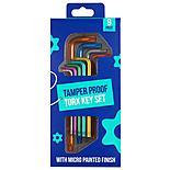 Halfords Colour 9 Piece Tamper Proof Star Key Set