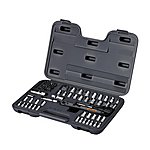 "image of Halfords 65 Piece Socket Set 1/4"" 3/8"""