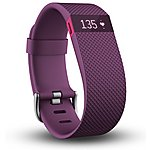 image of Fitbit Charge HR Heart Rate & Wireless Activity Wristband - Large (Plum)