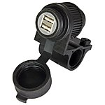 image of Oxford Waterproof Twin USB Motorcycle Socket