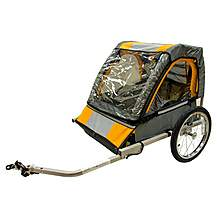 image of Halfords Double Buggy Child Bike Trailer