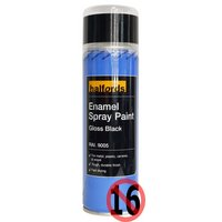 Halfords Enamel Spray Paint Gloss Black 300ml