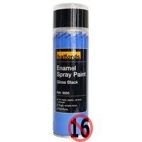 Halfords Enamel Spray Paint Gloss Black 300ml