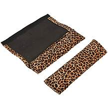 image of Leopard Print Seat Belt Pads - Pair of 2