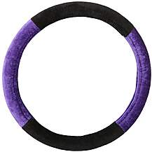 image of Purple And Black Steering Wheel Cover