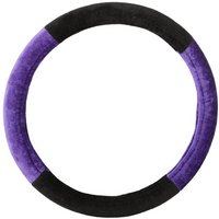 Purple And Black Steering Wheel Cover