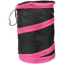image of Pop Up Storage Bin Pink/Black
