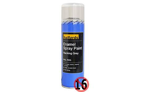 image of Halfords Enamel Spray Paint Racking Grey 300ml