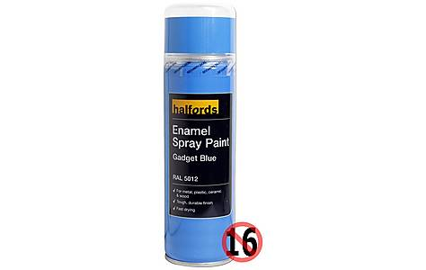 image of Halfords Enamel Spray Paint Gadget Blue 300ml