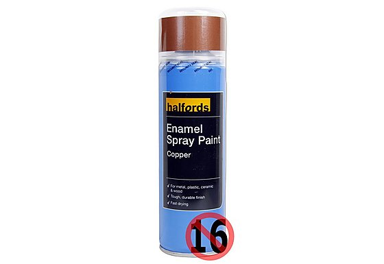 Halfords Enamel Spray Paint Copper 300ml