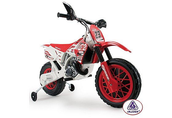 Injusa 6v Motocross Scrambler With Helmet