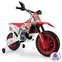 image of Injusa 6v Motocross Scrambler With Helmet