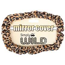 image of Leopard Print Mirror Cover