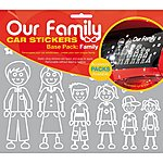 image of Our Family Car Sticker Base Pack