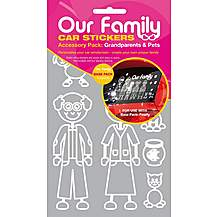image of Our Family Car Sticker Accessory Pack - Grandparents and Pets