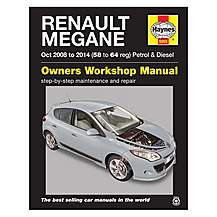 image of Haynes Renault Megane Hatchback, Sport Tourer (Estate) and Coupe Manual