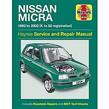 image of Haynes Nissan Micra (93 - 02) Manual