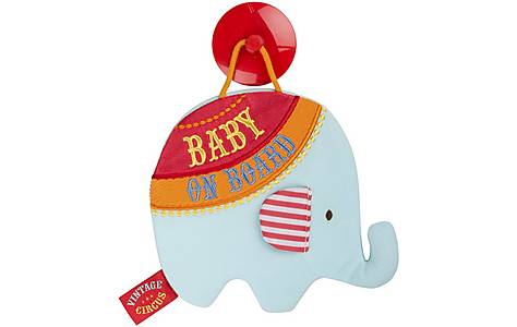 image of Vintage Circus Barnaby the Elephant Baby On Board Sign
